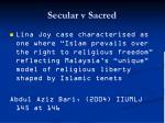 secular v sacred