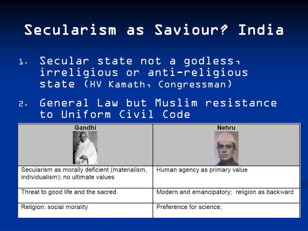 Secularism as Saviour? India