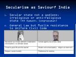 secularism as saviour india