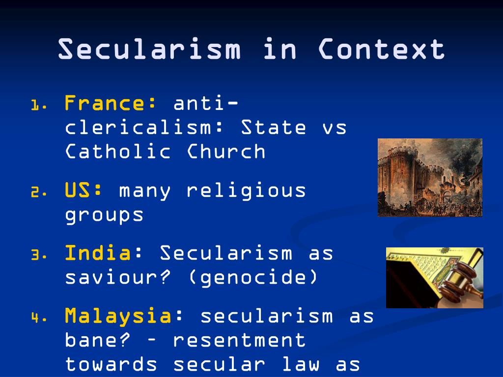 Secularism in Context