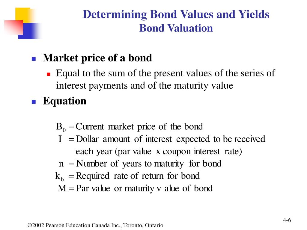 Determining Bond Values and Yields