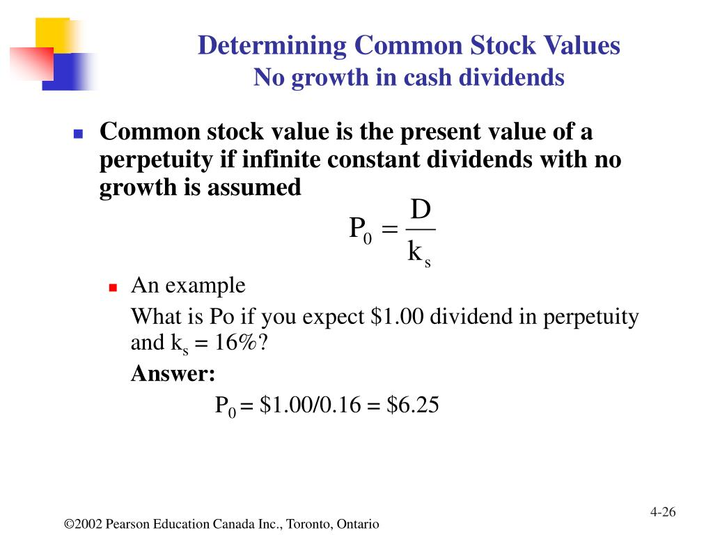 Determining Common Stock Values