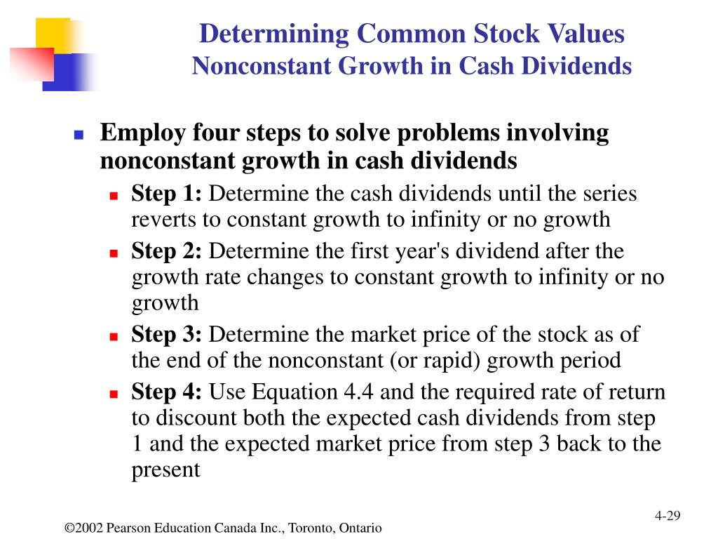 Determining Common Stock Values