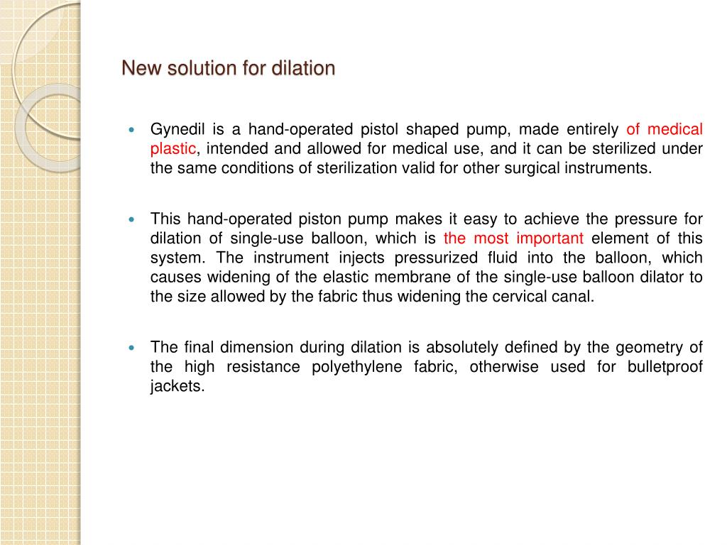 New solution for dilation