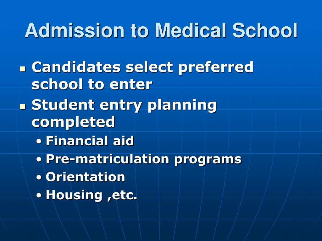 Admission to Medical School