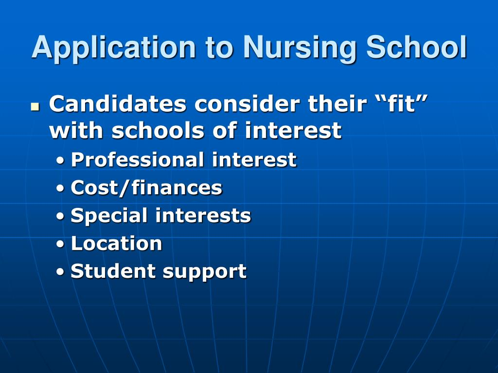 Application to Nursing School