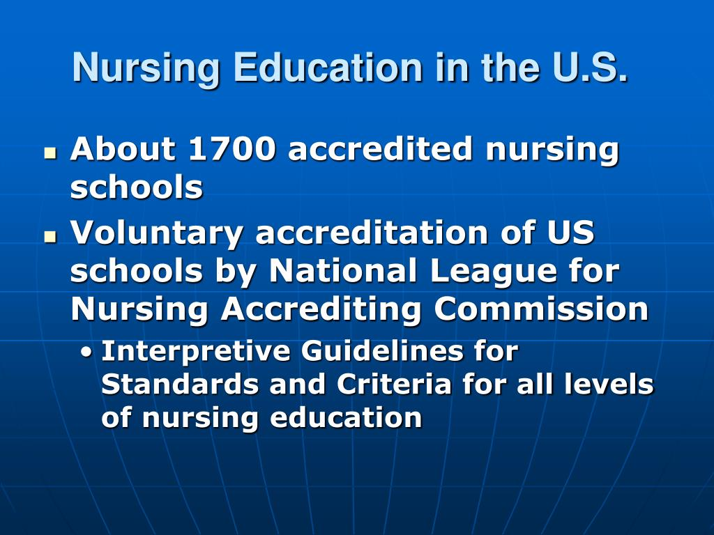 Nursing Education in the U.S.