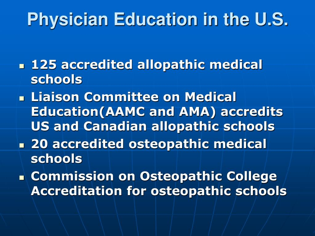 Physician Education in the U.S.