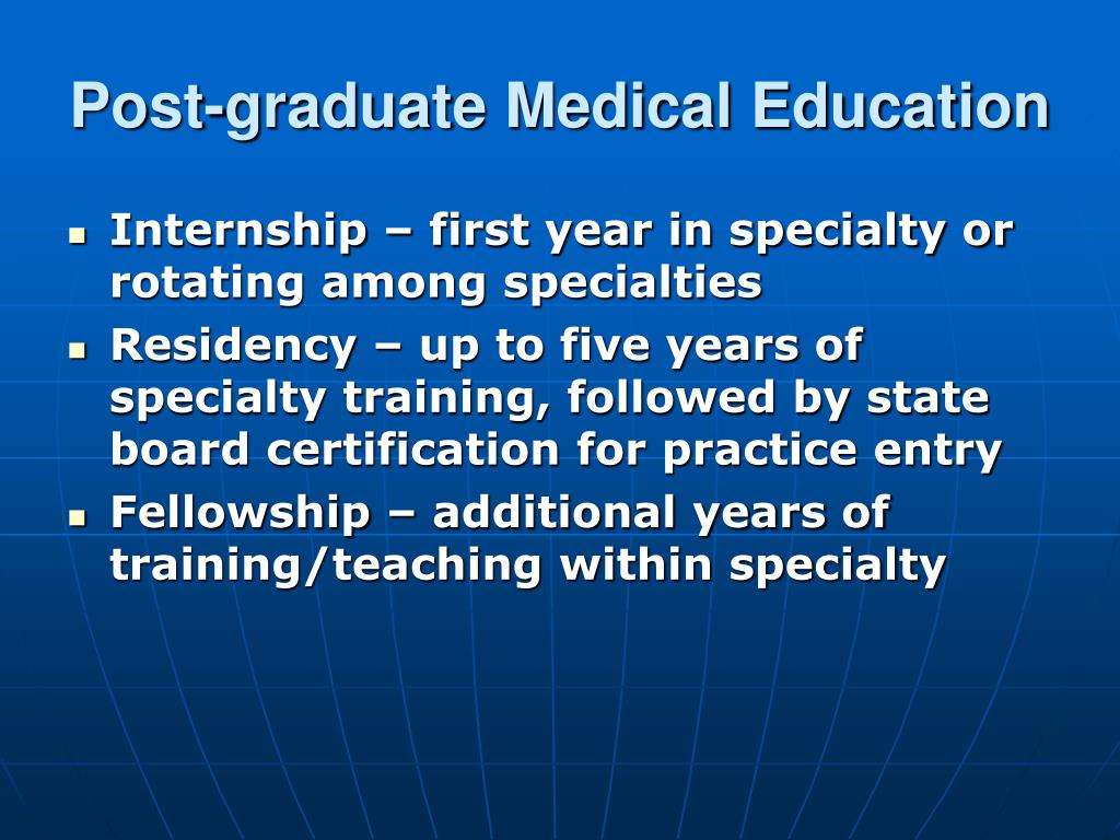 Post-graduate Medical Education