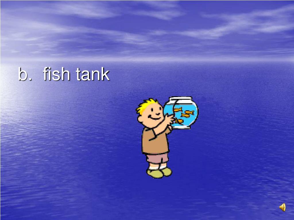 b.  fish tank