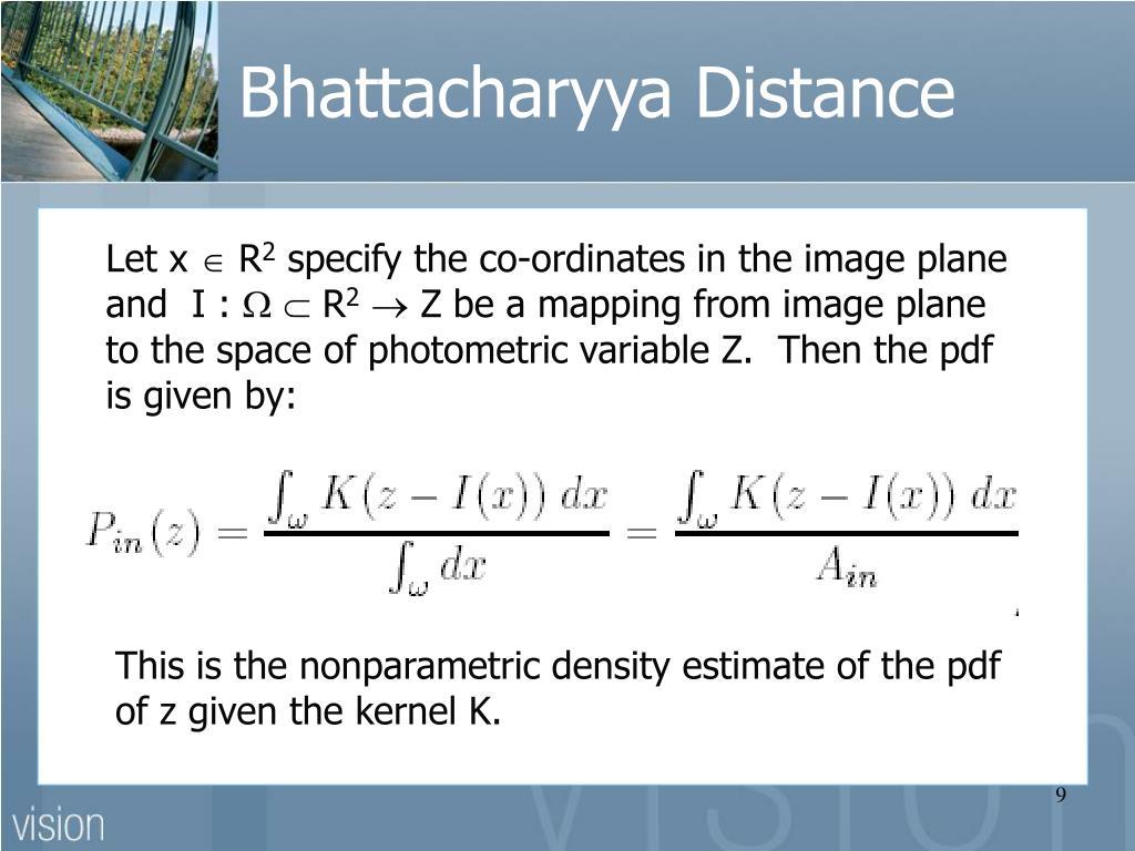 Bhattacharyya Distance