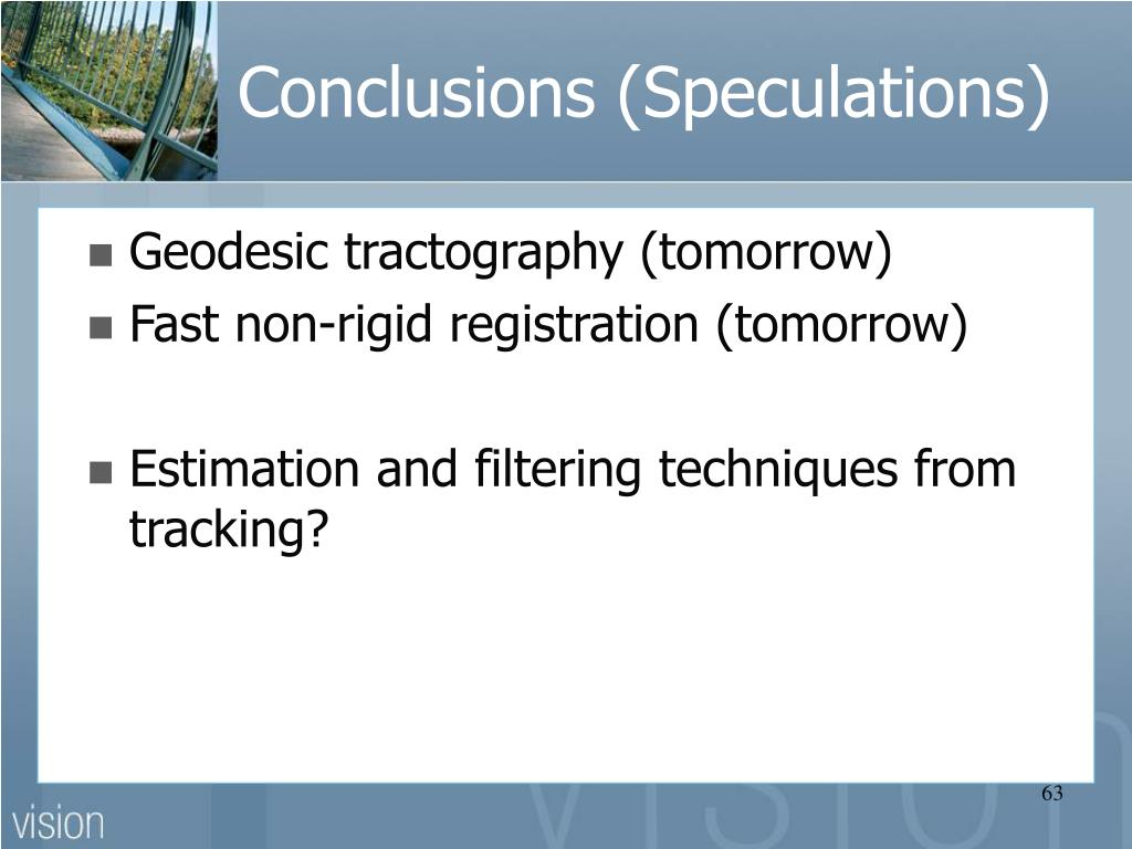 Conclusions (Speculations)