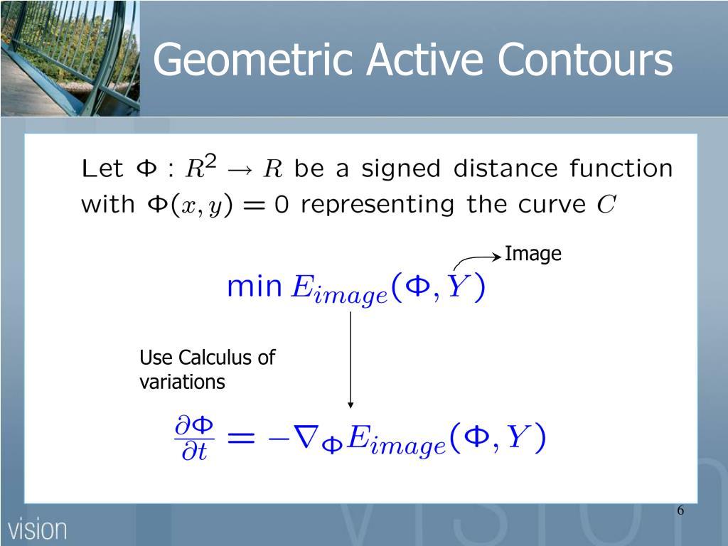 Geometric Active Contours
