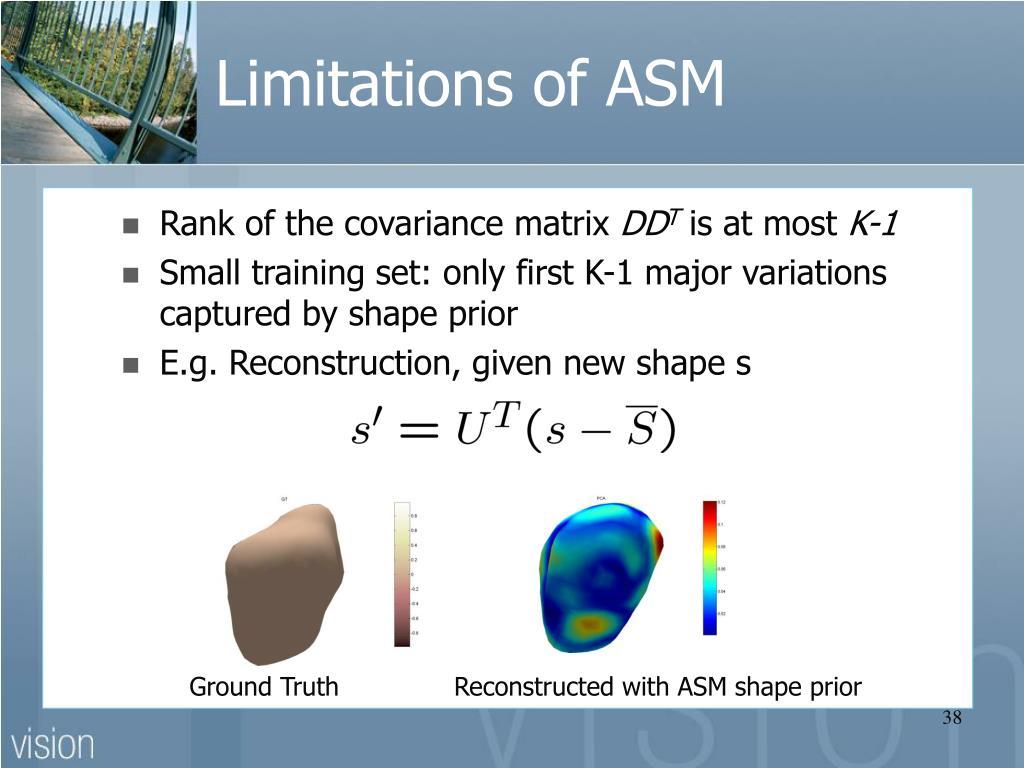 Limitations of ASM