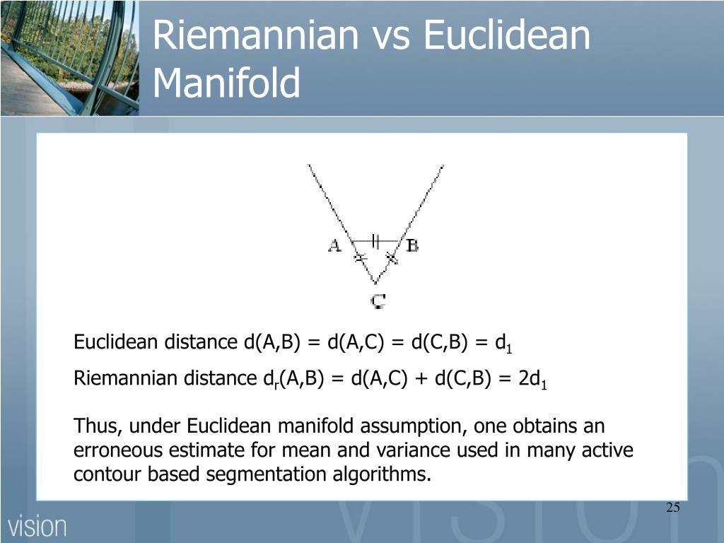 Riemannian vs Euclidean Manifold