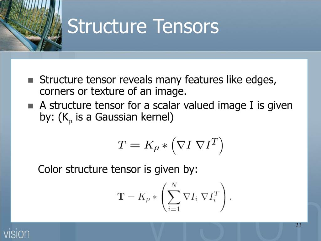 Structure Tensors