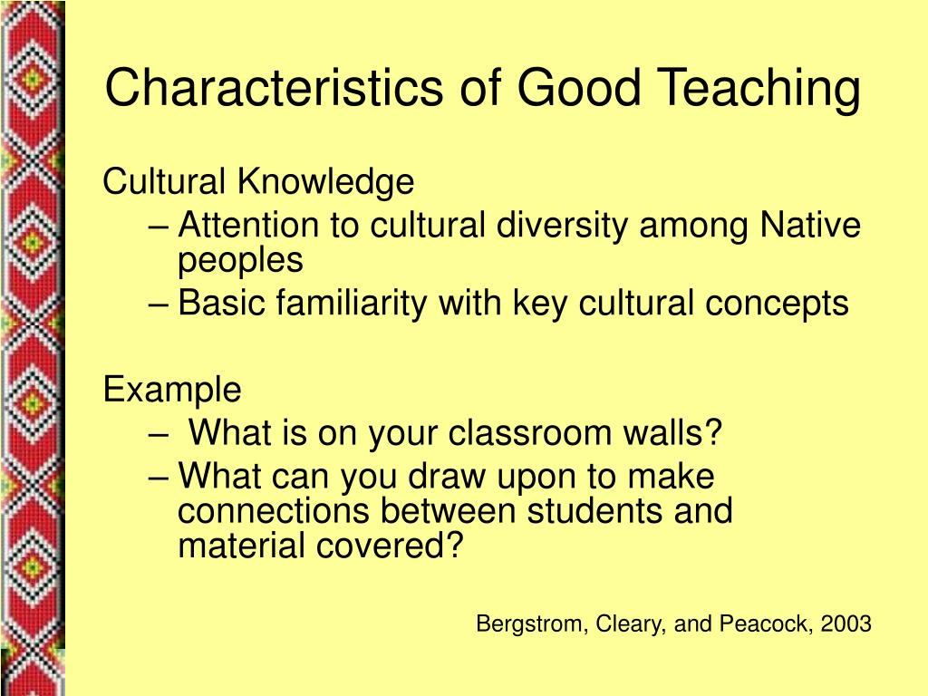 Characteristics of Good Teaching