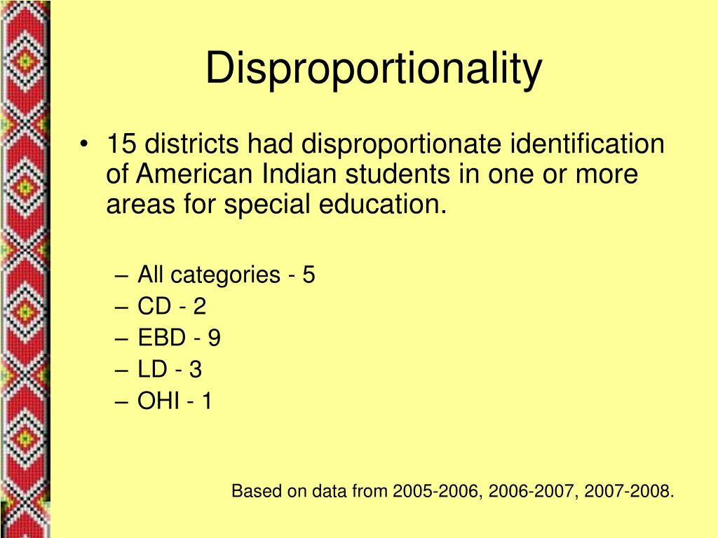 Disproportionality