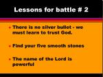 lessons for battle 2
