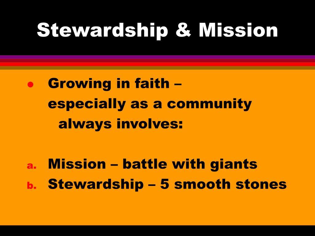 Stewardship & Mission