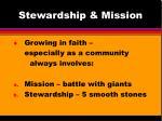 stewardship mission