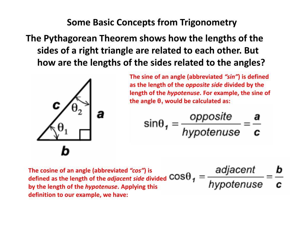 Some Basic Concepts from Trigonometry