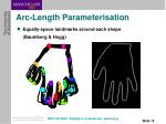 arc length parameterisation