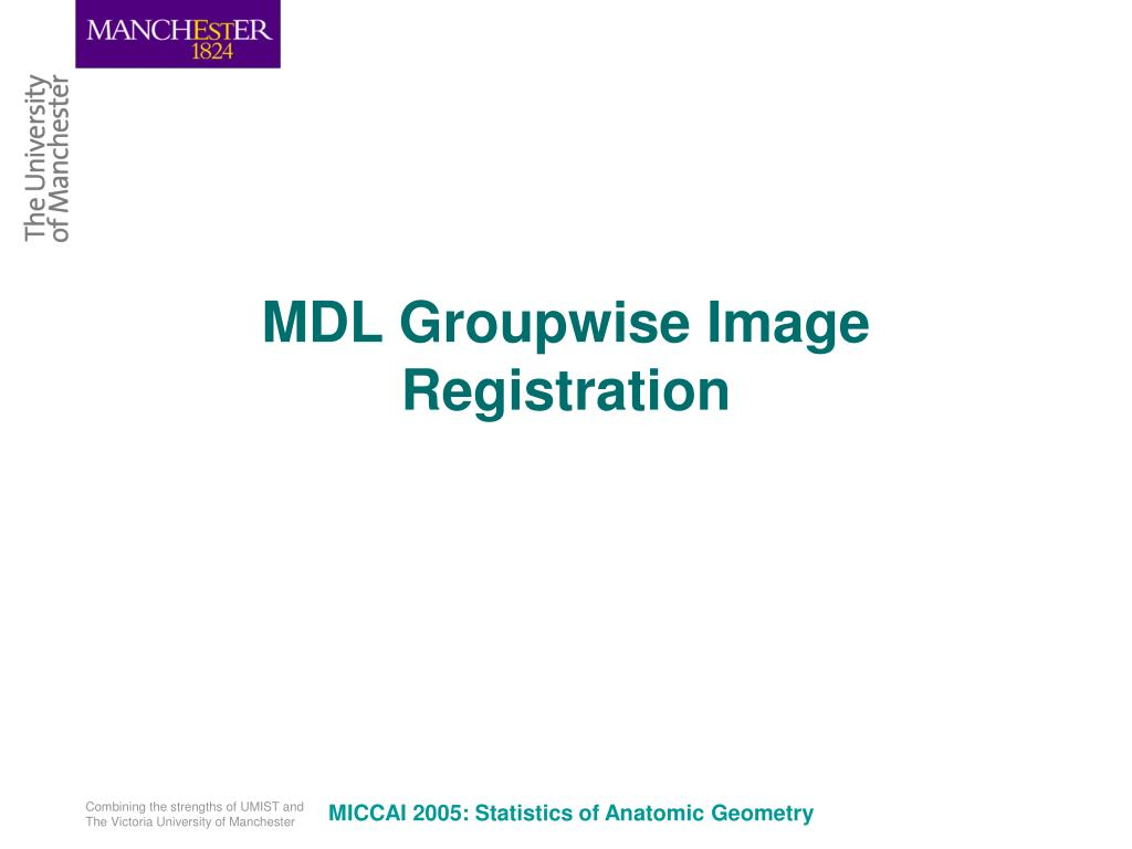 MDL Groupwise Image Registration