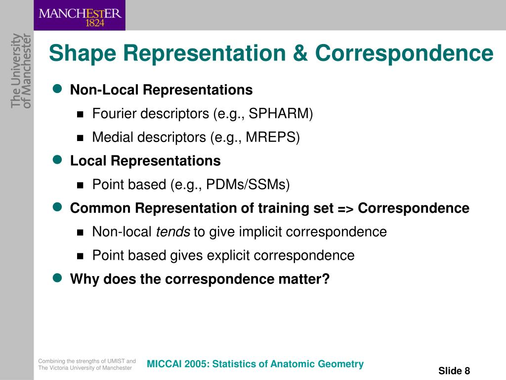 Shape Representation & Correspondence