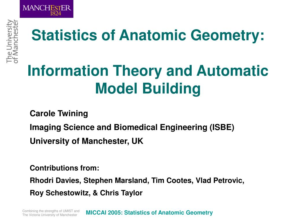 Statistics of Anatomic Geometry:
