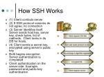 how ssh works