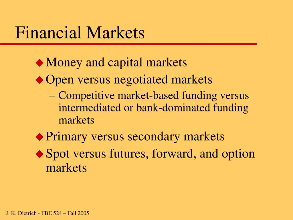 Financial Markets