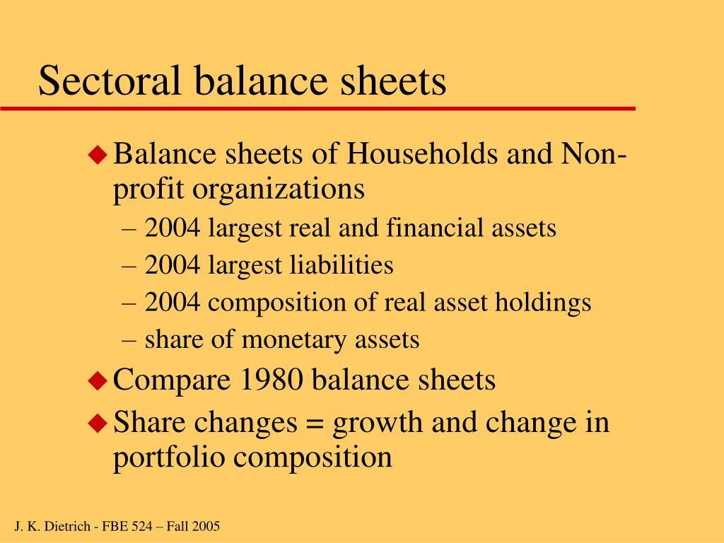Sectoral balance sheets