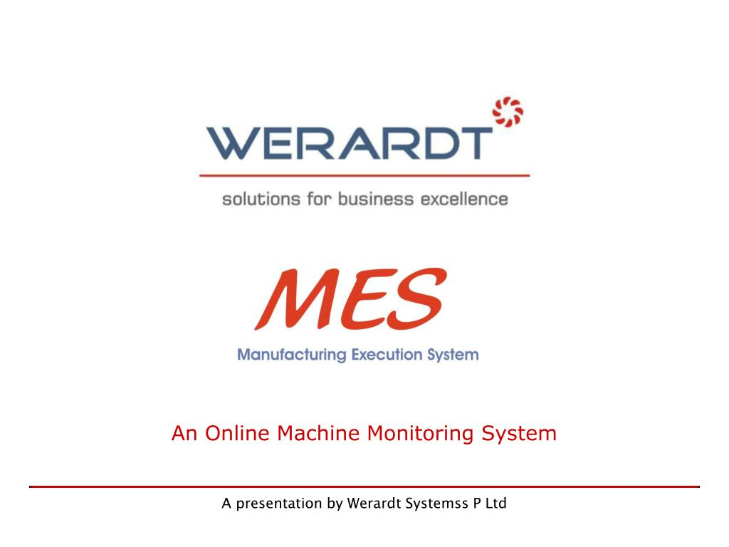 An Online Machine Monitoring System