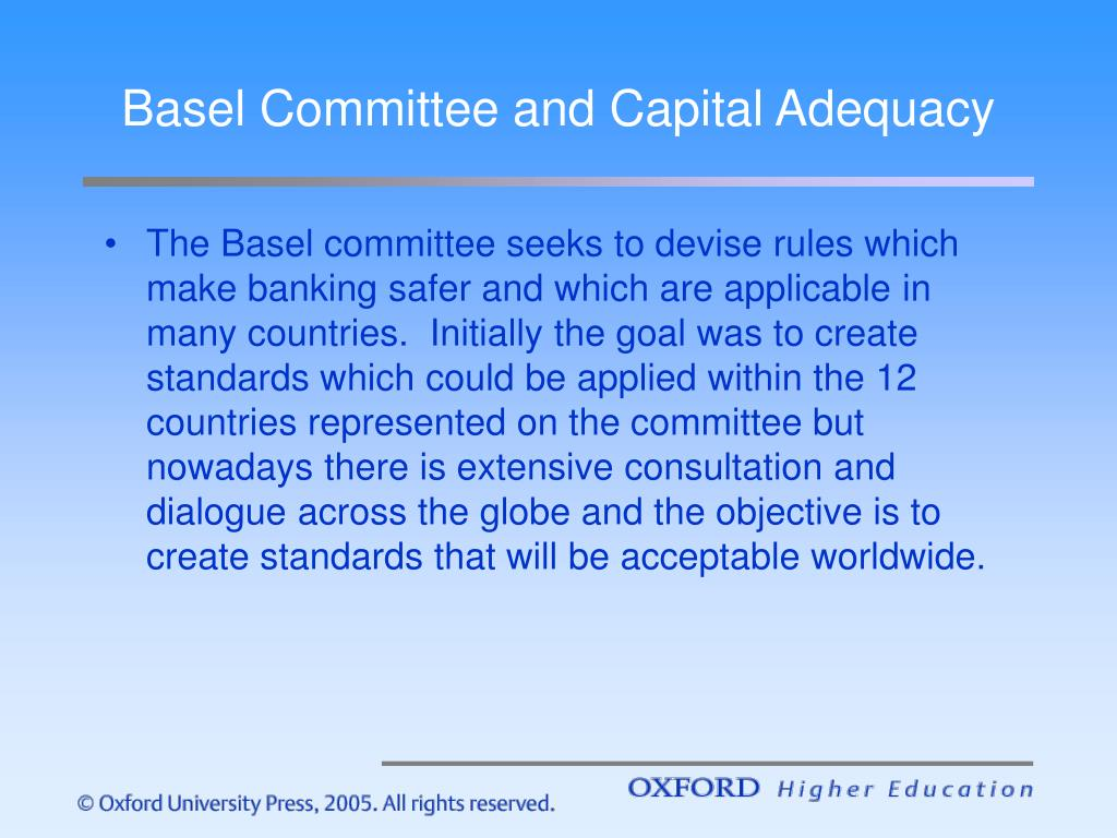 Basel Committee and Capital Adequacy