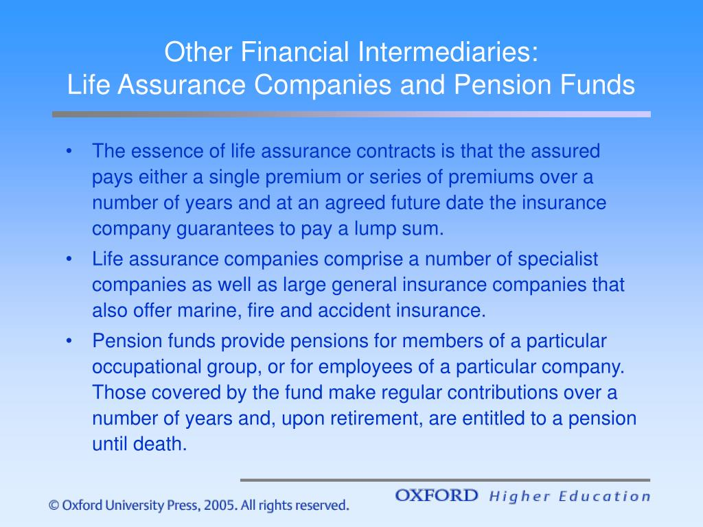 Other Financial Intermediaries: