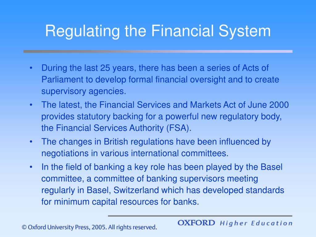 Regulating the Financial System