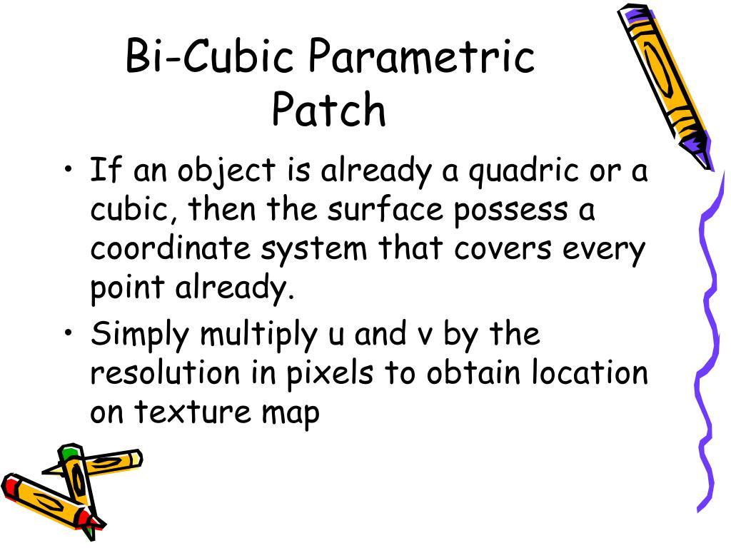 Bi-Cubic Parametric Patch