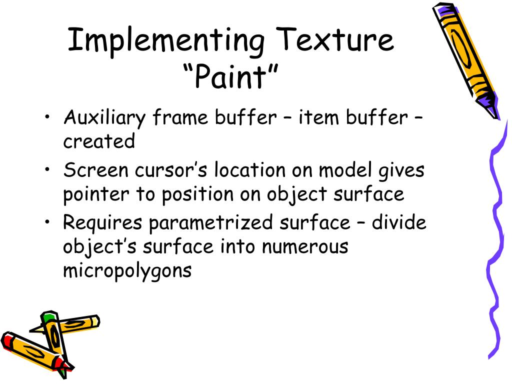 "Implementing Texture ""Paint"""