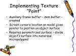 implementing texture paint