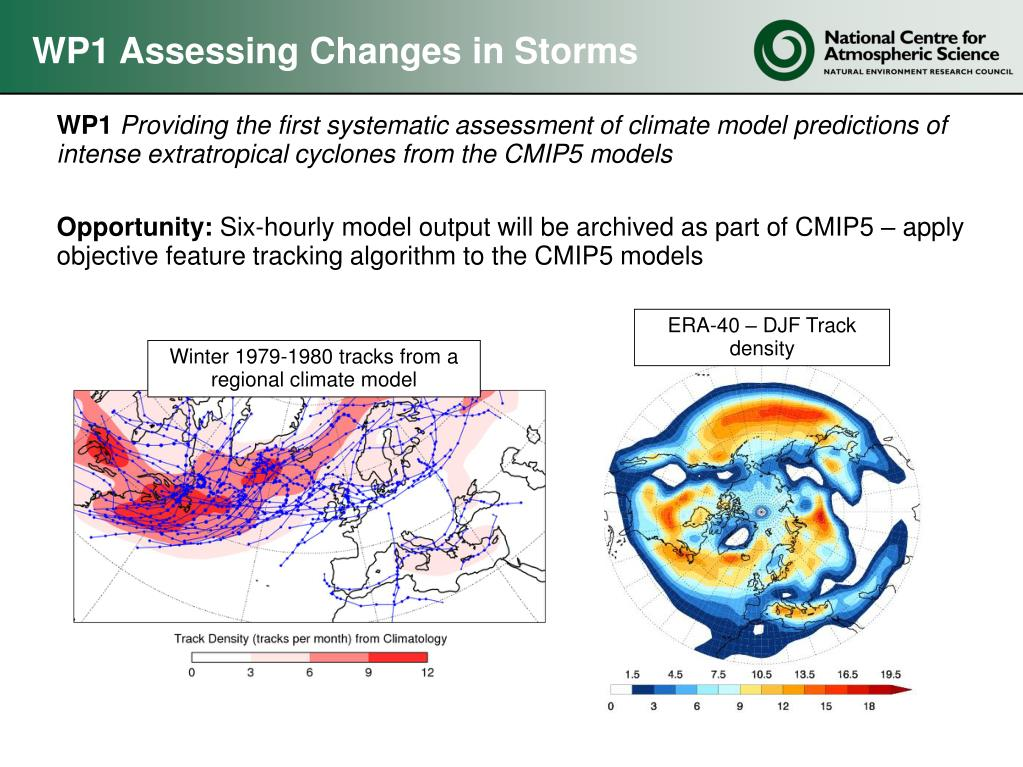 WP1 Assessing Changes in Storms