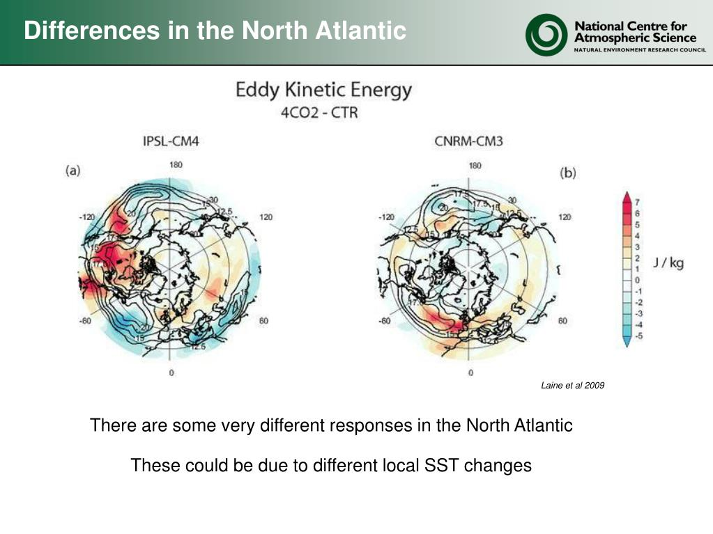 Differences in the North Atlantic