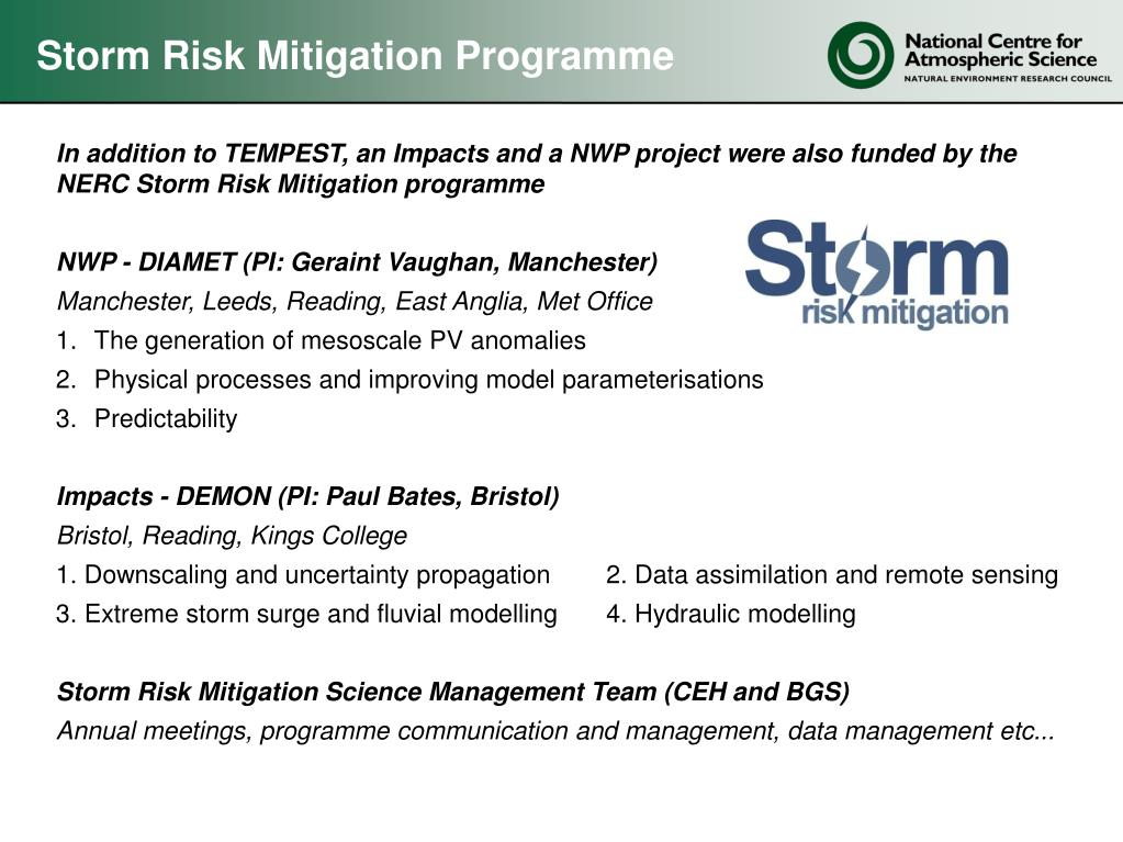 Storm Risk Mitigation Programme