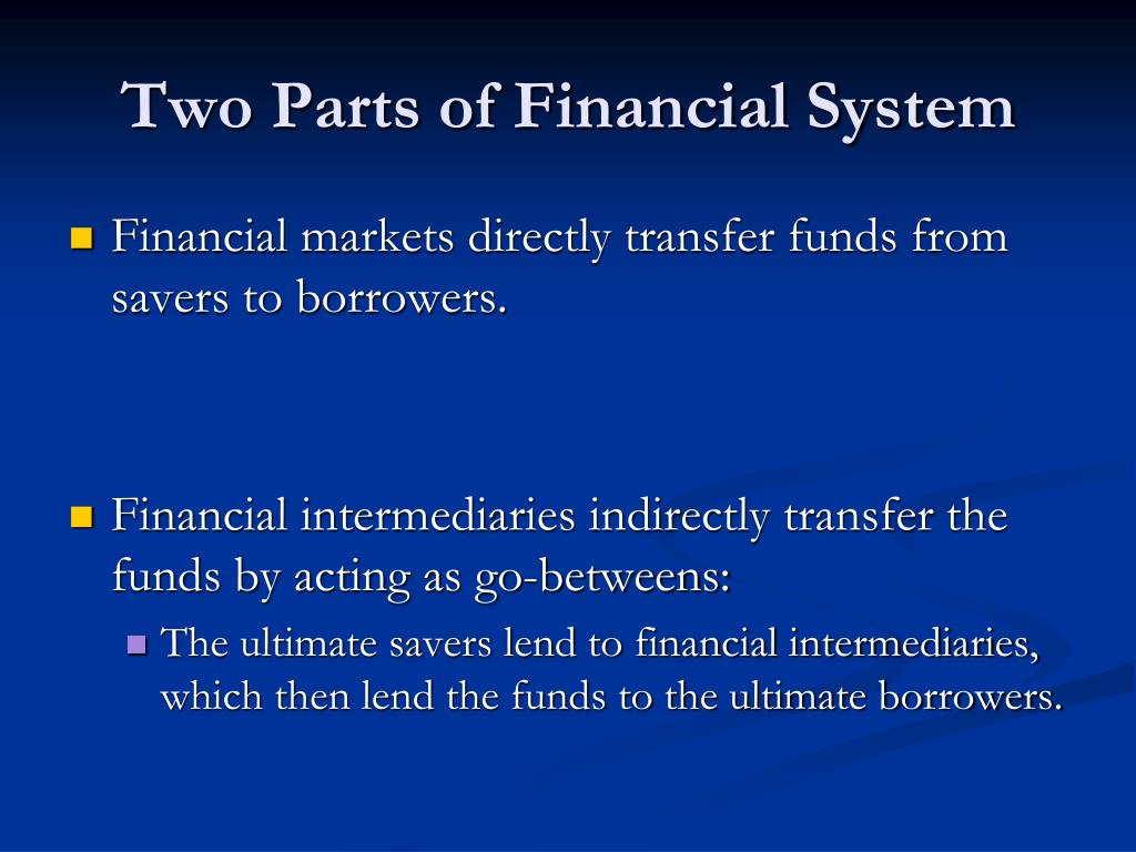 Two Parts of Financial System