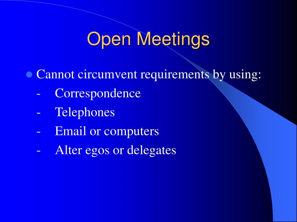 Open Meetings