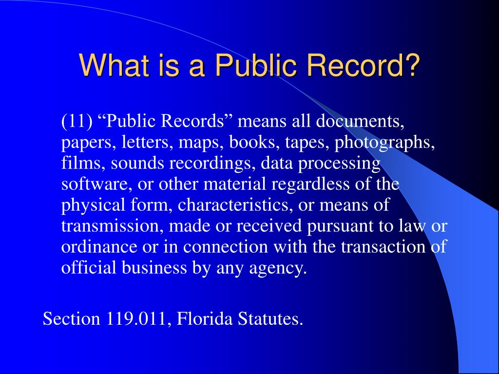 What is a Public Record?