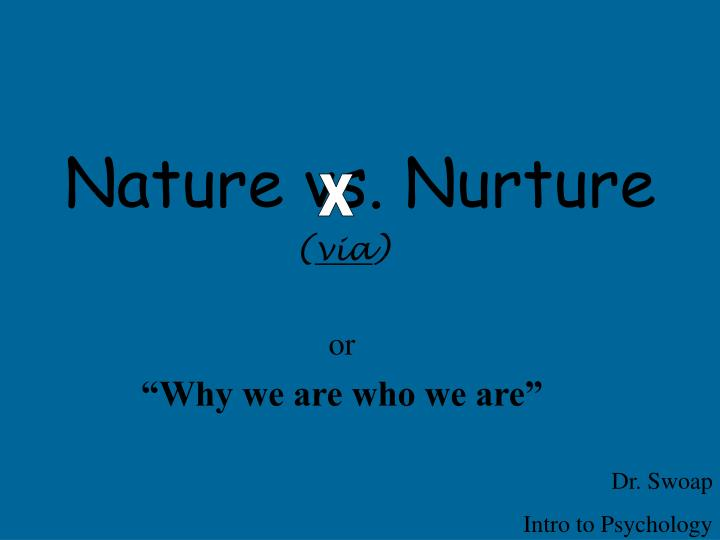 nature vs nurture in gender identity essay