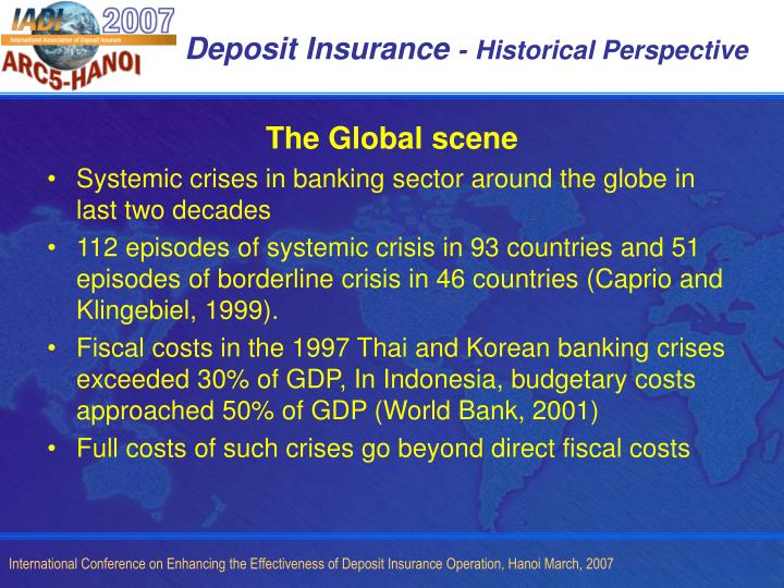 Deposit insurance historical perspective