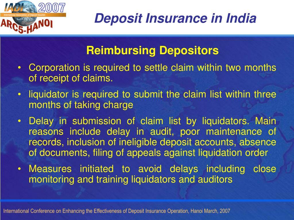 Deposit Insurance in India