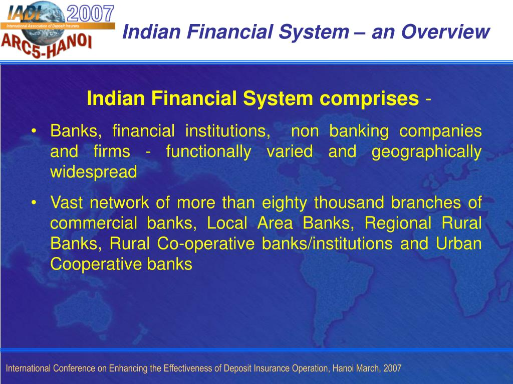 Indian Financial System – an Overview